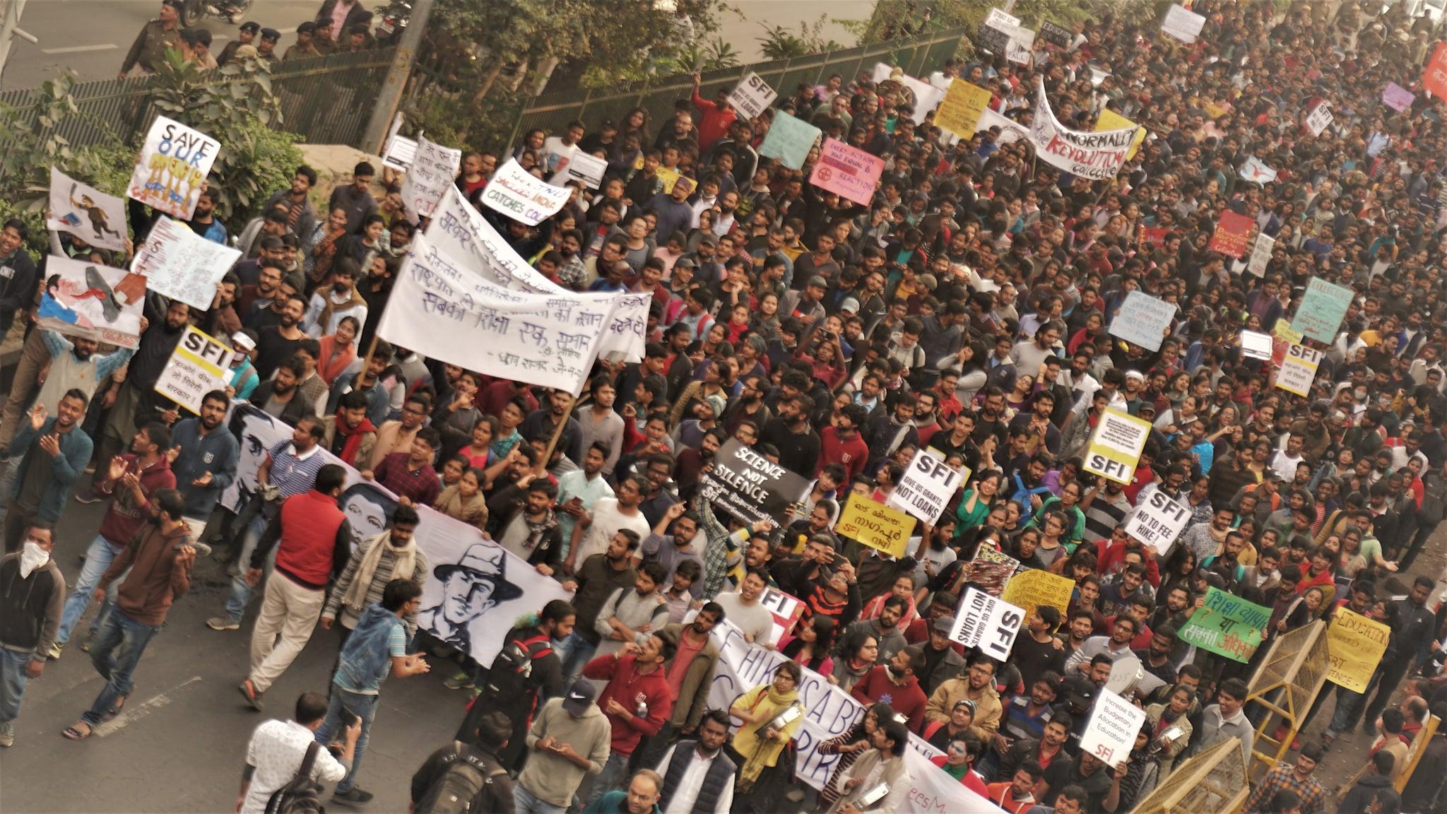 JNU Administration- FEE HIKE- PROTEST