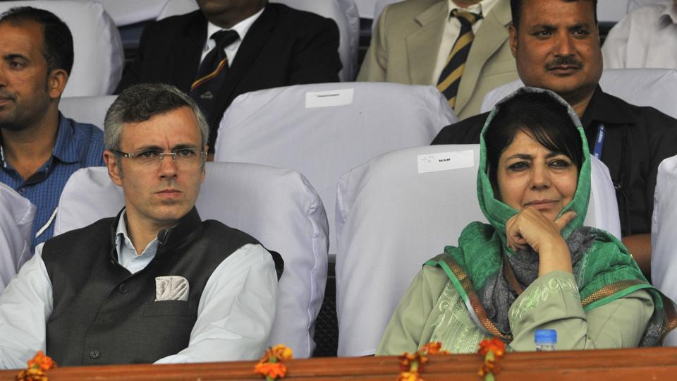 National Conference leader Omar Abdullah and Peoples Democratic Party President Mehbooba Mufti.