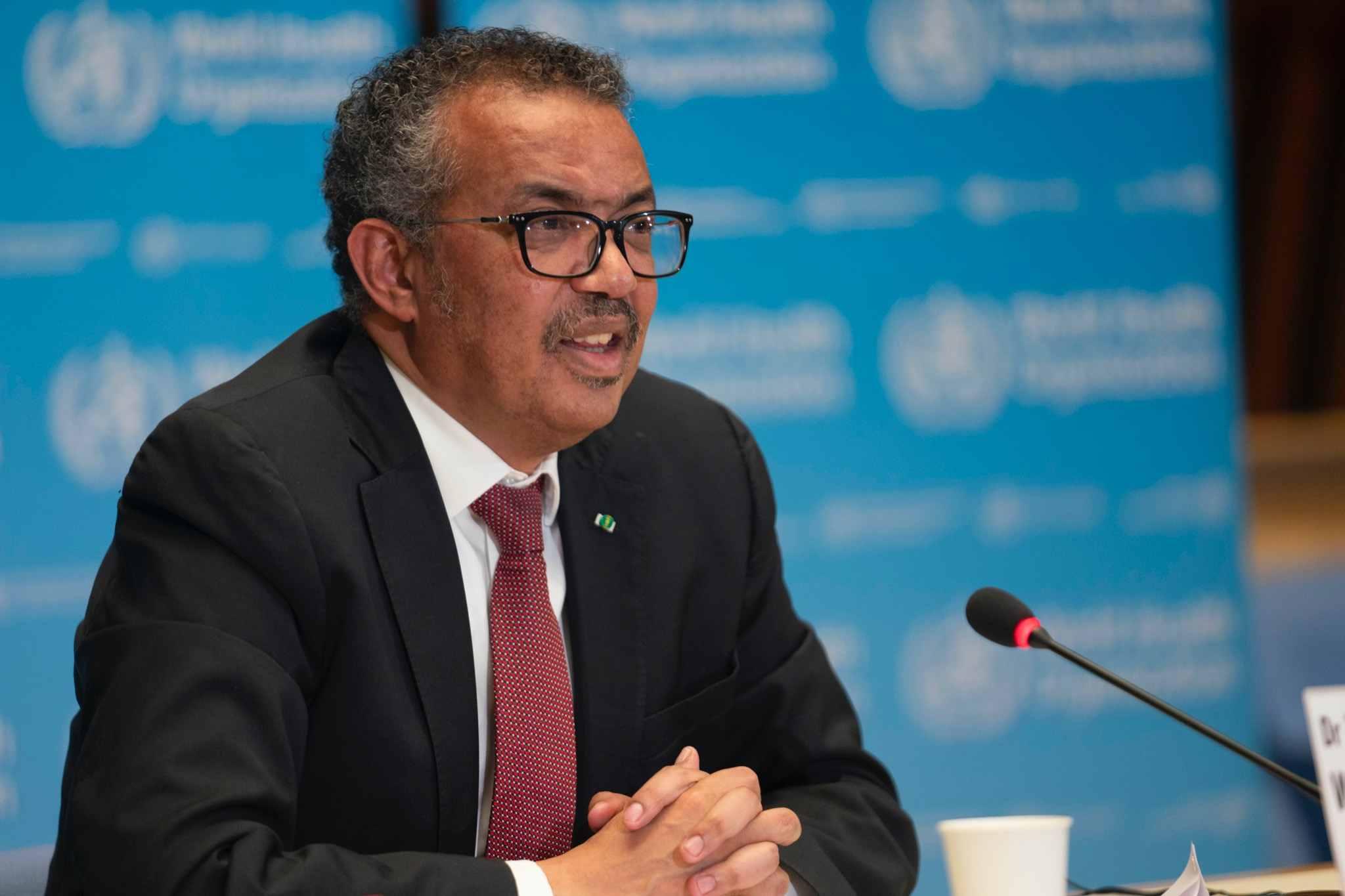 WHO director-general Tedros Adhanom Ghebreyesu