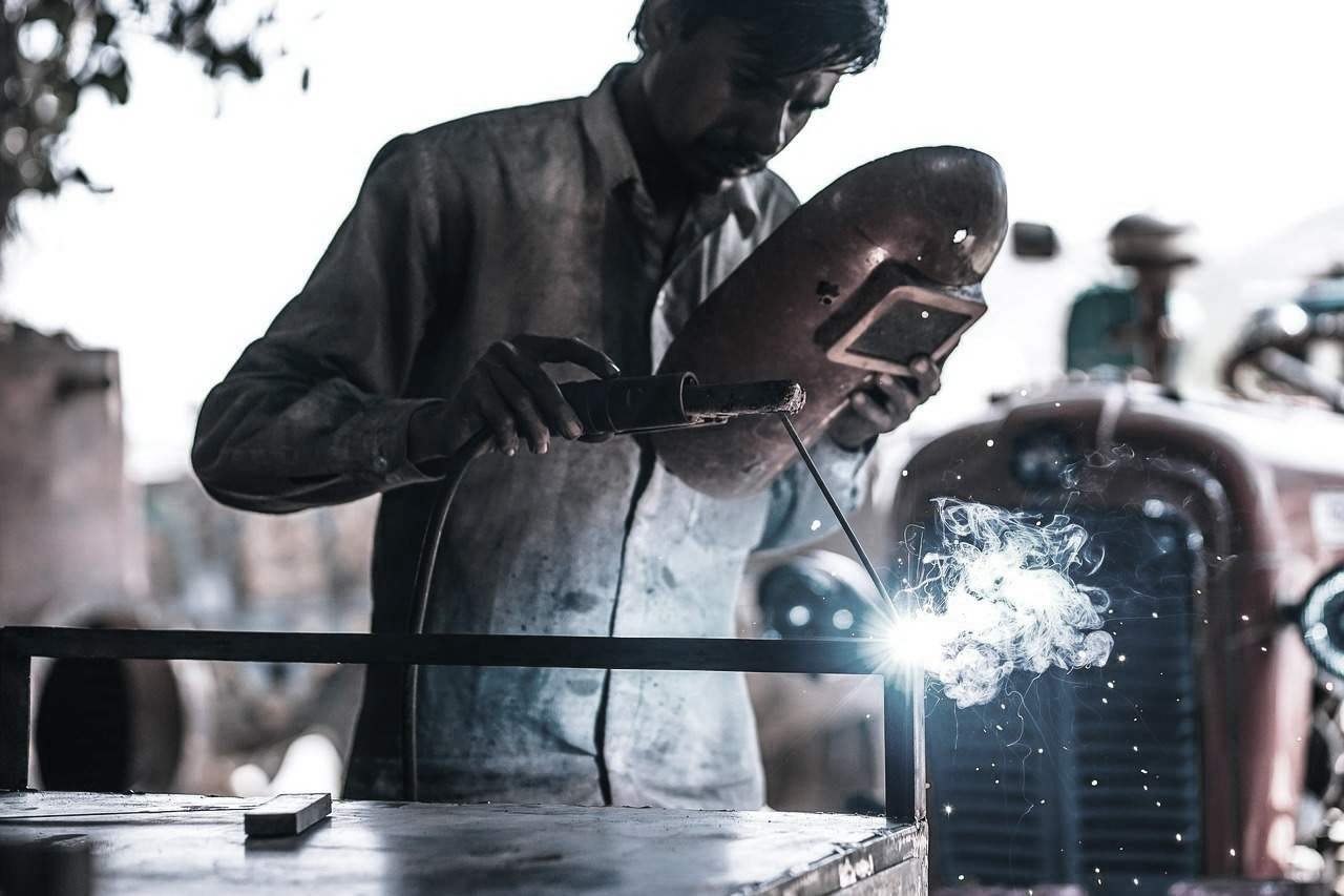man working factory