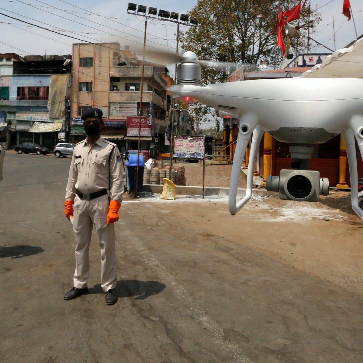 india coronavirus drone
