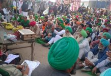 Farmers protests against the recently passed farm laws.