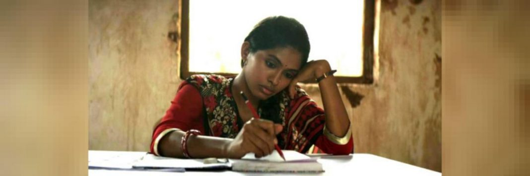 Malko, a government school teacher from the film 'Newton' performing her duties at an election booth in Chhattisgarh.