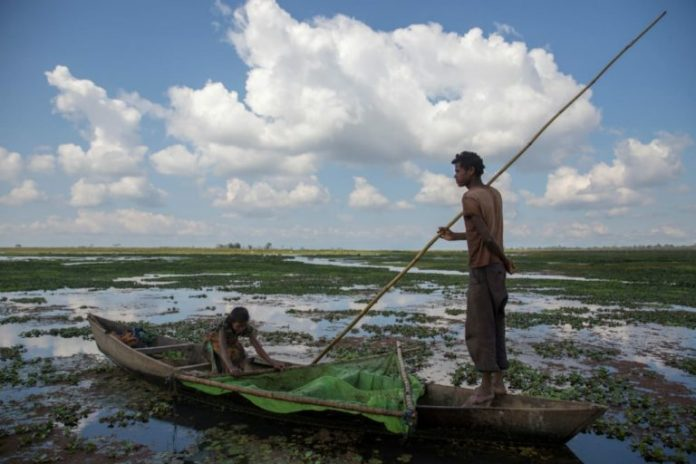 The Maguri beel in upper Assam has been the main source of food and sustenance for the people who live around it. Photo by Jitendra Raj Bajracharya/ICIMOD.